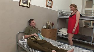 Fat mature in red dress spreads her legs and gets penetrated