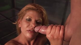 Balsl impenetrable depths screwing with a blonde stripper Rio Mariah and her client