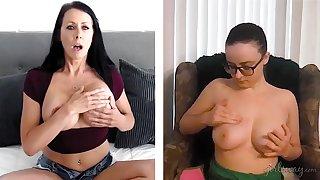 Web cam hoax betwixt gung-ho pornstars Reagan Foxx and Jay Taylor