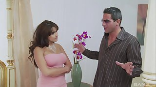 Balls deep fucking vulnerable the bed with shaved pussy MILF Valery Summer