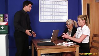 CFNM roughly sexy scenes of office porn