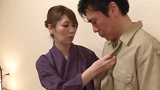 Gentle fucking in doggystyle with Japanese wife Chisato Shohda