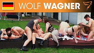Wild outdoor swinger party! Wolfwagner.com